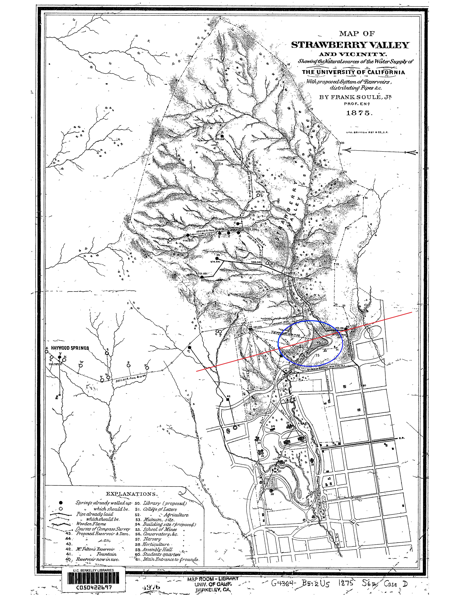 Fig. 5.2: Map of the Strawberry Creek area